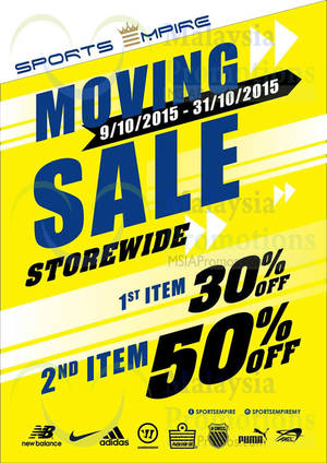 Featured image for Sports Empire Moving Out Sale @ Aeon Ipoh Station 18 9 – 31 Oct 2015