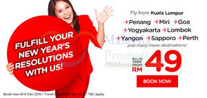 Featured image for Air Asia fr RM49 (all-in) Promo Fares 30 Nov – 6 Dec 2015