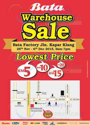 Featured image for Bata Brands Warehouse Sale @ Klang 26 Nov – 6 Dec 2015
