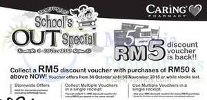 Featured image for Caring Pharmacy FREE RM5 Voucher Promo 6 – 30 Nov 2015