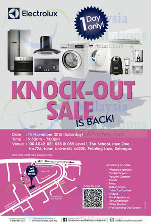 Featured image for Electrolux Warehouse Sale 14 Nov 2015