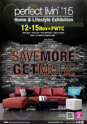 Featured image for Perfect Livin Home & Lifestyle Exhibition @ PWTC 12 – 15 Nov 2015