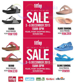 Featured image for Fitflop Sale @ Pearl Point 3 – 6 Dec 2015