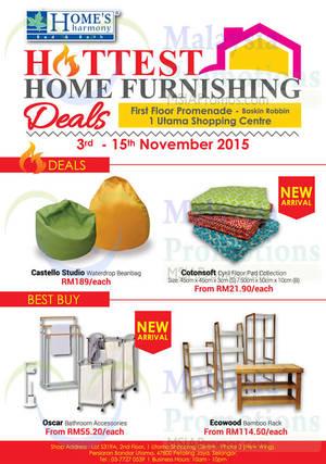 Featured image for Home's Harmony Furnishing Deals @ 1 Utama 3 – 15 Nov 2015