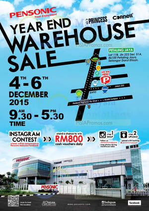 Featured image for Pensonic Year End Warehouse Sale @ Petaling Jaya 4 – 6 Dec 2015