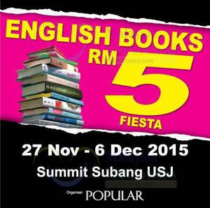Featured image for Popular RM5 Fiesta Book Fair @ Summit Subang USJ 27 Nov – 6 Dec 2015