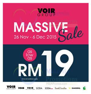 Featured image for Voir Group Massive Sale 26 Nov – 6 Dec 2015