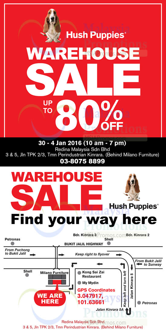 Hush Puppies Apparel will be having a warehouse sale from 30 Dec 2015 to 4  Jan 2016. Featuring ... 7ea9a92f1c