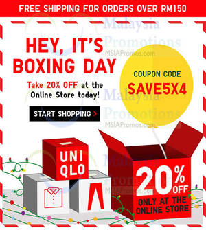 Featured image for Uniqlo 20% OFF Storewide Online Promo 26 Dec 2015