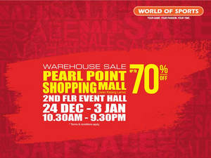 Featured image for World Of Sports Warehouse Sale @ Pearl Point 24 Dec 2015 – 3 Jan 2016
