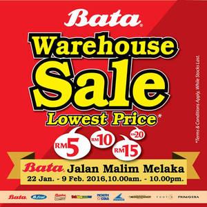 Featured image for Bata Warehouse Sale @ Melaka 22 Jan – 9 Feb 2016