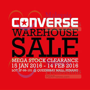 Featured image for Converse Warehouse Sale 26 Jan – 14 Feb 2016