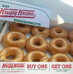 Featured image for Krispy Kreme Doughnuts Malaysia Buy 12 FREE 12 1-Day Promo 12 Jan 2016