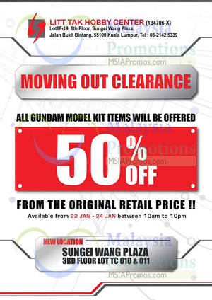 Featured image for Litt Tak Branded Toys Warehouse Clearance @ Sungei Wang Plaza 22 – 24 Jan 2016