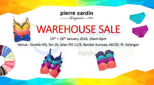 Featured image for Pierre Cardin Warehouse Sale 13 – 16 Jan 2016