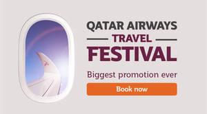 Featured image for Qatar Airways Travel Festival Fares Promo 11 – 17 Jan 2016