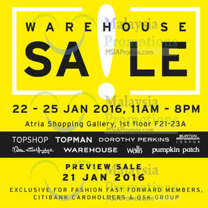 Featured image for Wing Tai Clothing Warehouse Sale 21 – 25 Jan 2016