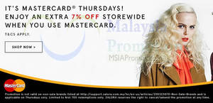 Featured image for Zalora 7% OFF Storewide For Mastercard Cardholders (Thursdays) 21 Jan – 29 Dec 2016