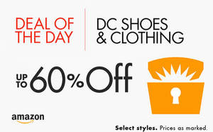Featured image for DC Shoes Up To 60% Off 24hr Deal 29 Feb – 1 Mar 2016