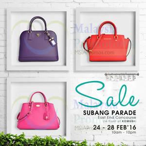 Featured image for Celebrity Wearhouz Designer Handbags Sale @ Subang Parade 24 – 28 Feb 2016