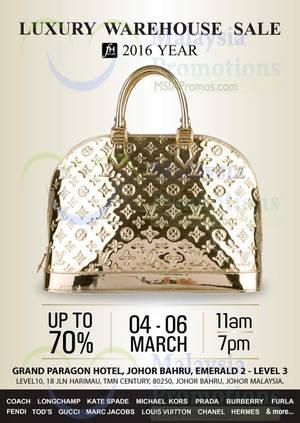 Featured image for FH Club Luxury Handbags Sale @ Grand Paragon Hotel JB 4 – 6 Mar 2016