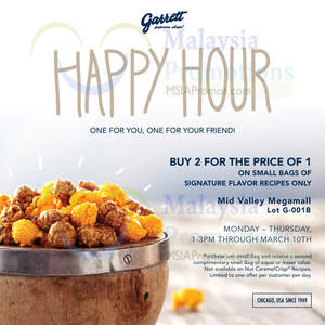 Featured image for Garrett Popcorn 1-for-1 Promotion 1 – 10 Mar 2016