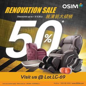 Featured image for OSIM Renovation Sale @ Paradigm Mall 7 – 22 Feb 2016