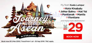 Featured image for Air Asia fr RM29 Promo Fares 29 Feb – 6 Mar 2016