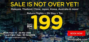 Featured image for Air Asia Go fr RM199/pax (2N Stay + Return Flights + Taxes) Promo 14 – 20 Mar 2016