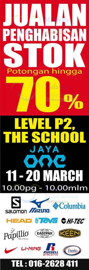 Featured image for Jetz Sports Wear & Shoes Clearance Sale @ Jaya One 11 – 20 Mar 2016