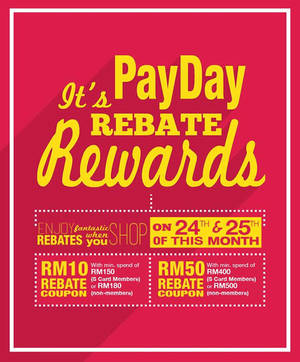 Featured image for KL Sogo Spend RM180 & Get FREE RM10 Rebate Coupon 24 – 25 Mar 2016