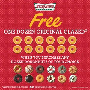 Featured image for Krispy Kreme Buy 1 FREE 1 Promo 1 – 31 Mar 2016