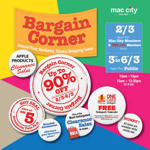 Featured image for Mac City Apple Products Clearance Sale @ 1 Utama 3 – 6 Mar 2016