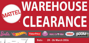 Featured image for Mattel Warehouse Clearance @ The School Jaya One 24 – 26 Mar 2016