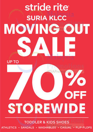 Featured image for Stride Rite Moving Out Clearance Sale @ Suria KLCC 4 Mar – 2 Apr 2016
