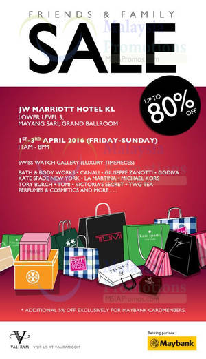 Featured image for Valiram Friends & Family Sale 1 – 3 Apr 2016
