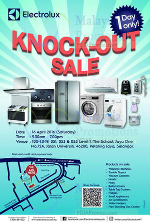 Featured image for Electrolux Warehouse Sale 16 Apr 2016