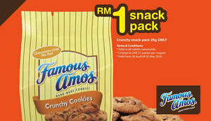 Featured image for Famous Amos RM1 Snack Pack Promo from 28 Apr – 2 May 2016