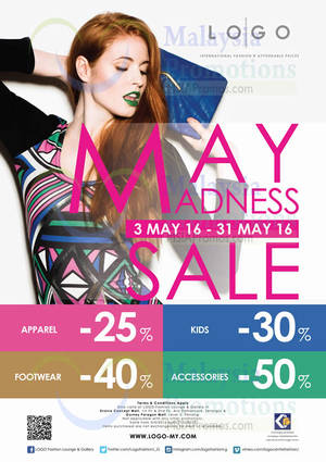 Featured image for LOGO Fashion Lounge & Gallery May Madness Sale from 3 – 31 May 2016