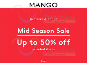 Featured image for Mango Mid Season Sale from 8 – 17 Apr 2016