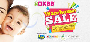 Featured image for OKBB (OK Baby) Warehouse SALE at Puchong 25 – 29 May 2016