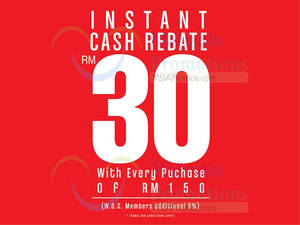 Featured image for World Of Sports RM30 Instant Cash Rebate Promo 1 – 22 Apr 2016
