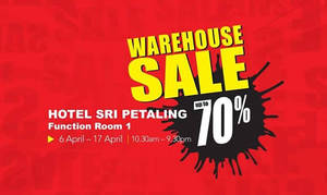 Featured image for World Of Sports Warehouse Sale @ Hotel Sri Petaling 6 – 17 Apr 2016