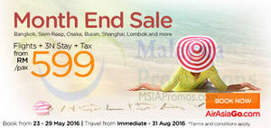 Featured image for Air Asia Go fr RM599 3N (Flights + Hotels + Taxes) Packages from 23 – 29 May 2016