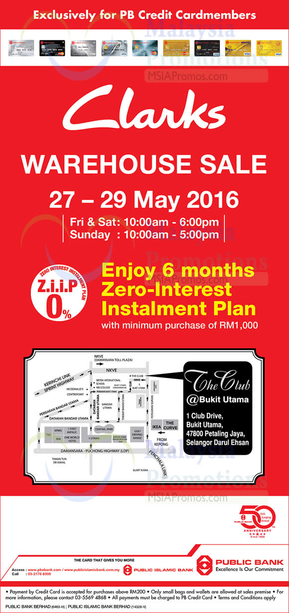 837451ec88af Clarks Warehouse Sale from 27 – 29 May 2016