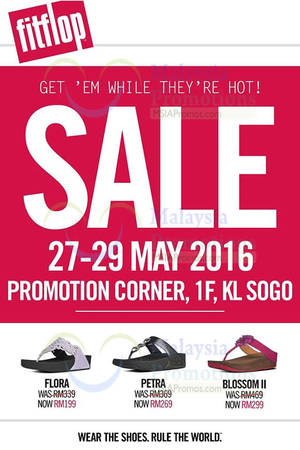 Featured image for FitFlop Sale at KL Sogo from 27 – 29 May 2016