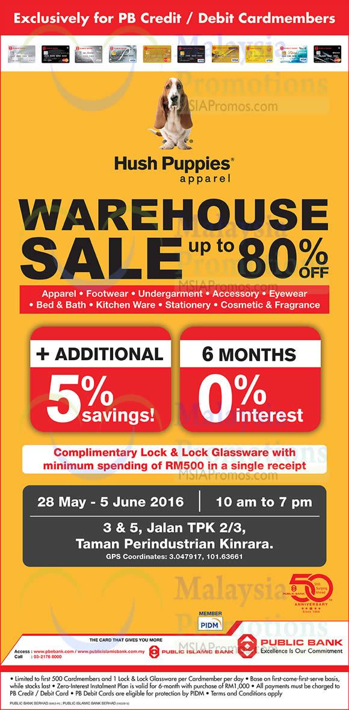 Hush Puppies Apparel Warehouse Sale at Puchong from 28 May – 5 Jun 2016 cf15d7ed3e