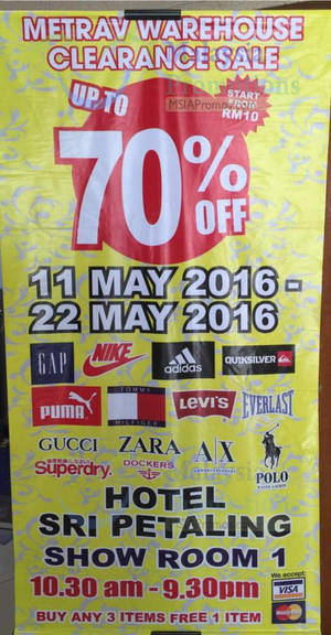 Featured image for Jetz FFL Clearance Sale at Sri Petaling Hotel from 11 – 22 May 2016