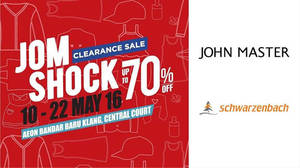 Featured image for Jom Shock Clearance Sale at AEON Bandar Baru Klang from 10 – 22 May 2016