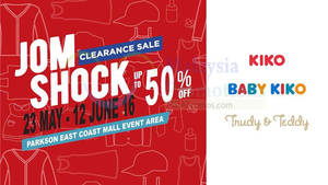 Featured image for KIKO, BABY KIKO, Trudy & Teddy Clearance Sale at Parkson East Coast Mall from 23 May – 12 Jun 2016